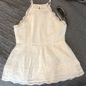 BRAND NEW, NEVER WORN white lace tank top